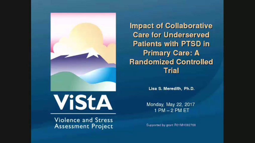 Impact of Collaborative Care for Underserved Patients with PTSD in Primary Care A Randomized Controlled Trial