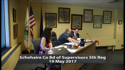 Schoharie Co Bd of Supervisors 5th Reg -- 19 May 2017