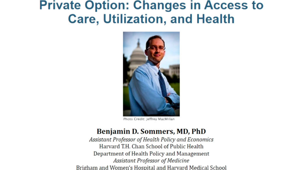 Meet the Author: Changes in utilization and health among low income adults after medicaid expansion or expanded private insurance