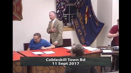 Cobleskill Town Bd -- 11 Sept 2017