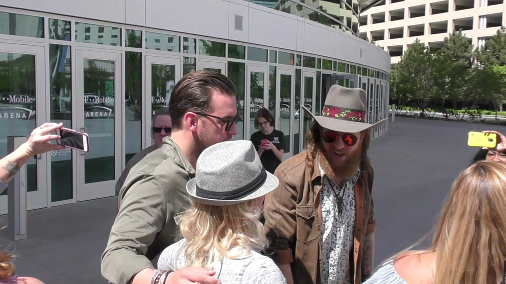 Brothers Osborne outside ACM Awards Radio Row at T-Mobile Arena in Las Vegas.mp4