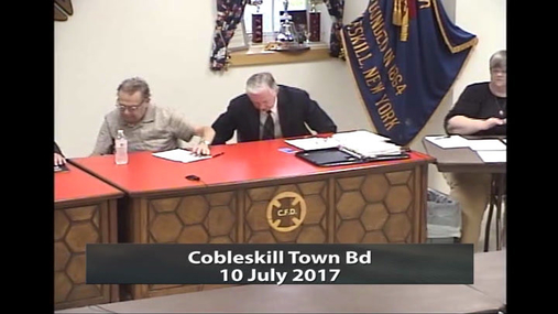 Cobleskill Town Bd__10 July 2017