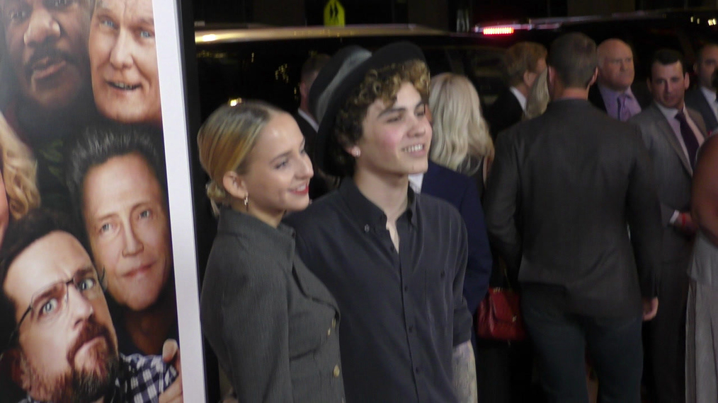 Rosa Pottorff and Sam Pottorff at the premiere of Father Figures at TCL Chinese Theatre in Hollywood.mp4