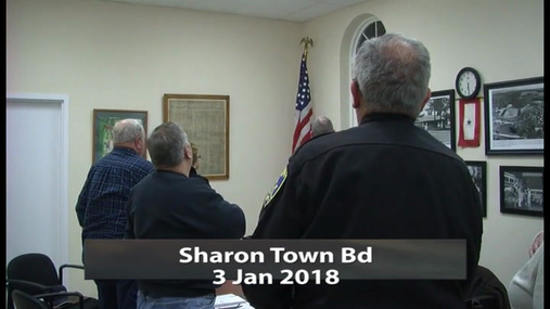 Sharon Town Bd -- 3 Jan 2018