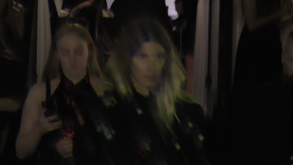 Veronika Heilbrunner outside the H&M x ERDEM Runway Show & Party at The Ebell Club in Los Angeles.mp4