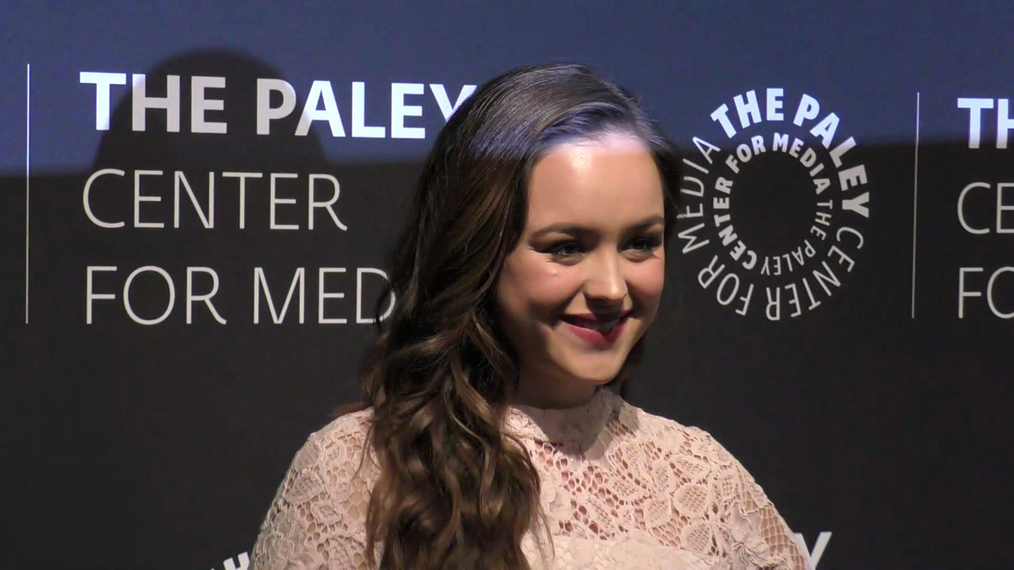 Hayley Orrantia at the Paley Center Presents The Goldbergs 100th Episode Celebration at Paley Center in Beverly Hills.mp4