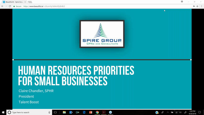 Human Resources: Priorities for Small Businesses