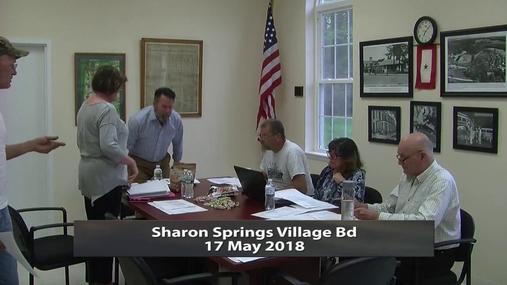 Sharon Springs Village Bd -- 17 May 2018