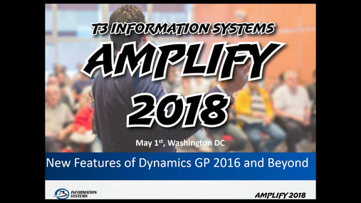 New Features of Dynamics GP 2016 and Beyond