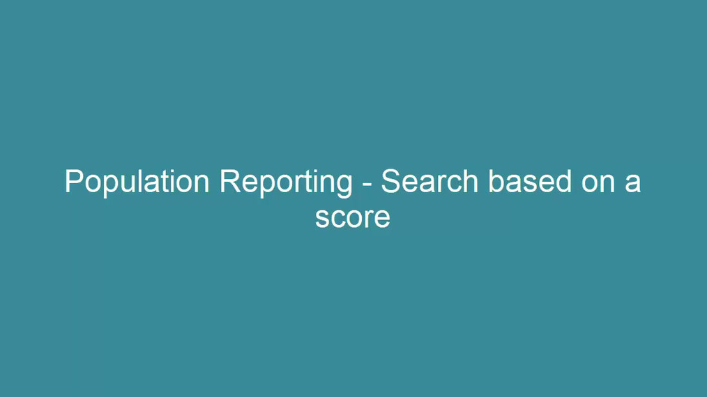 Search by score