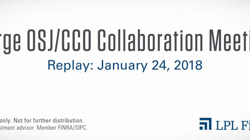 Large OSJ/CCO Collaboration Meeting Replay: January 24, 2018