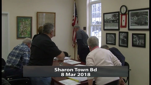 Sharon Town Bd -- 8 Mar 2018