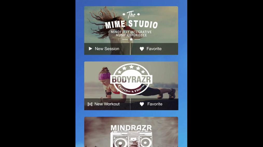 Getting started: MindRazr Mobile app