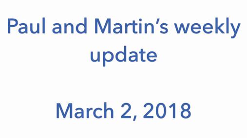 STP weekly update - 2/3/2018