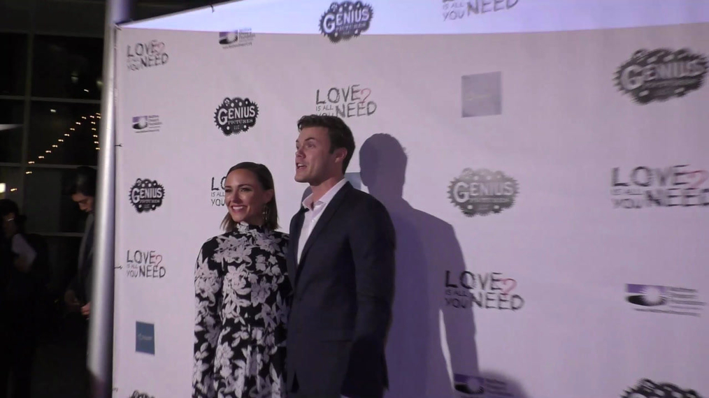 Briana Evigan and Blake Cooper Griffin at the Premiere Of Love Is All You Need at the ArcLight Theatre in Hollywood.mp4