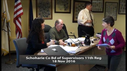 Schoharie Co Bd of Supervisors 11 Reg  -- 18 Nov 2016