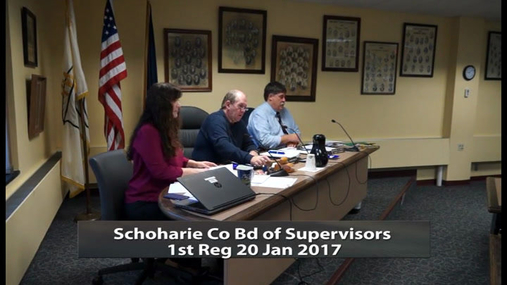 Schoharie Co Bd of Supevisors 1st Reg -- 20 Jan 2017
