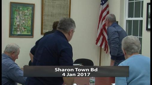 Sharon Town Bd -- 4 Jan 2017