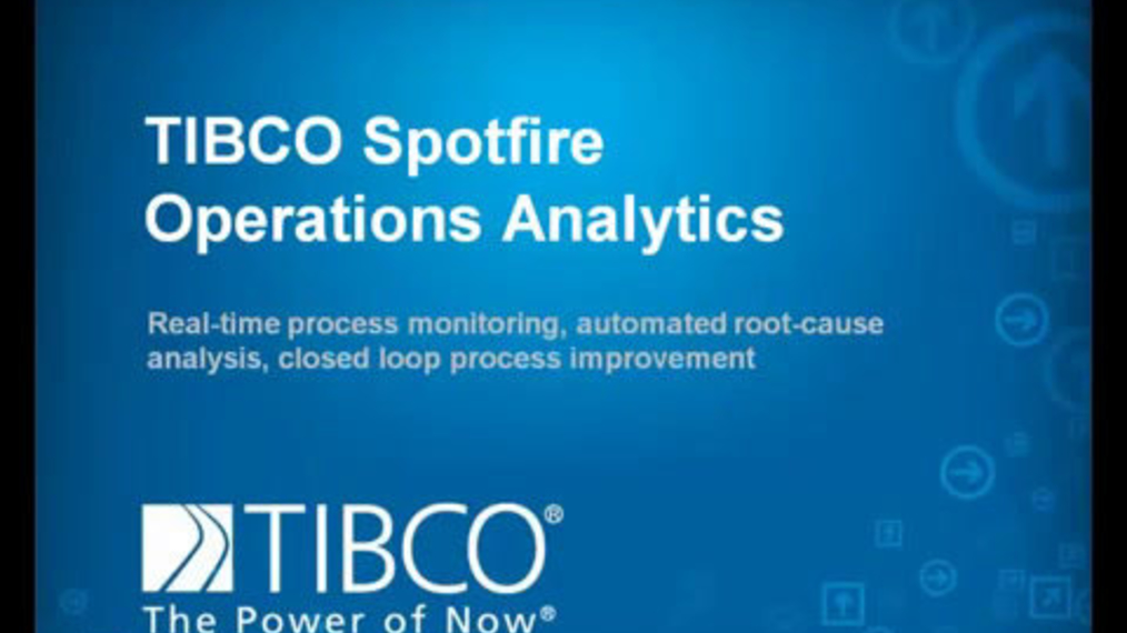 ▶ TIBCO Spotfire Operations Analytics