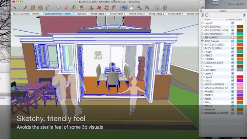 Produce an interactive 3d model of a house