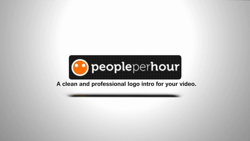 Create a clean and professional video intro using your logo