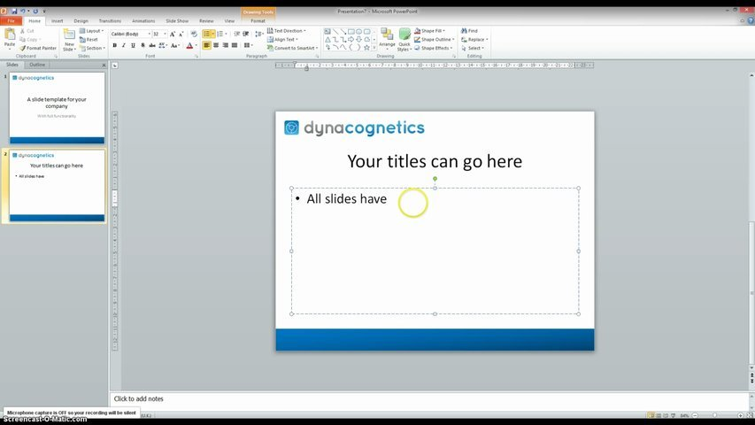 Design a powerpoint template for your company