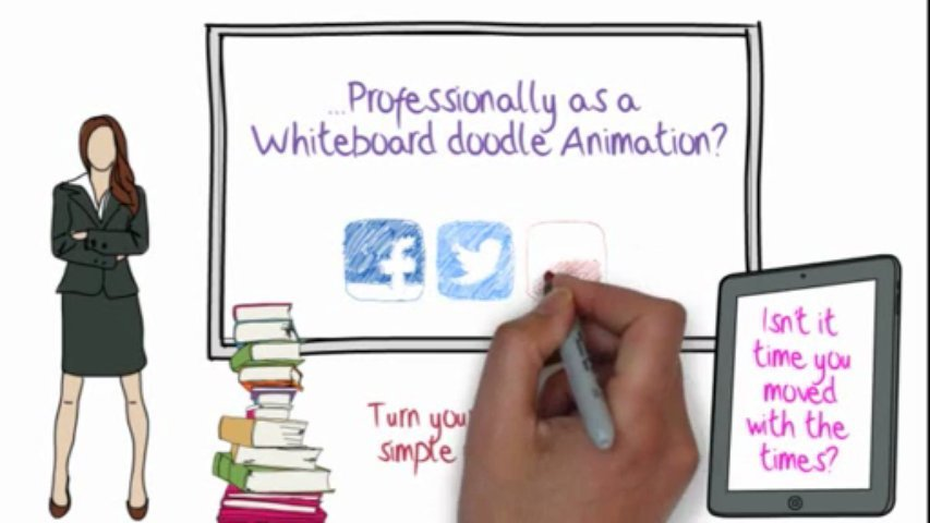 Create a whiteboard doodle animation video (unlimited duration & revisions)