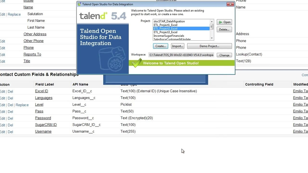 How to Create an ETL between Excel and Salesforce.com Using Talend Open Studio