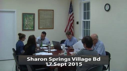 Sharon Springs Village Bd 17 Sept 2015 Pt.1