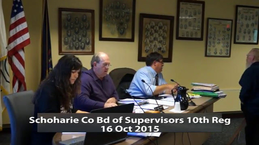 Schoharie Co Bd of Supervisors 10th Reg 16 Oct 2015 Pt1.MPG