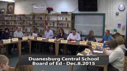 Duanesburg School BOE 12-8-2015 Pt.1