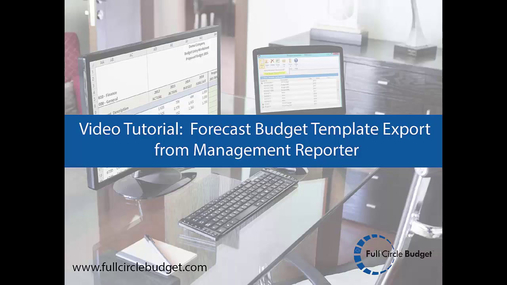 FCB Video Tutorial - Forecast Template MR