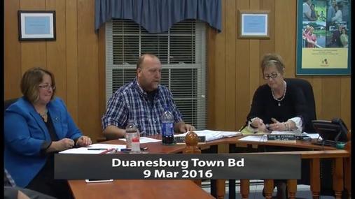 Duanesburg Town Bd -- Mar 9 2016