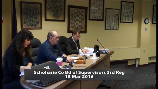 Schoharie Co Bd of Supervisors 3rd Reg -- Mar 18 2016