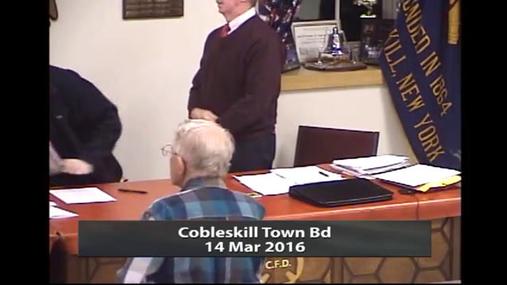 Cobleskill Town Bd -- 14 Mar 2016