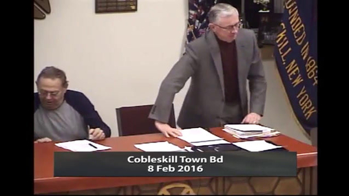 Cobleskill Town Bd -- 8 Feb 2016