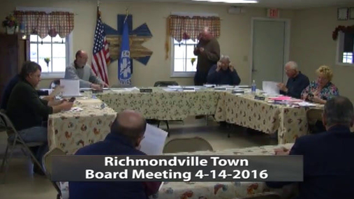 Richmondville Town Board --  Apr 14 2016