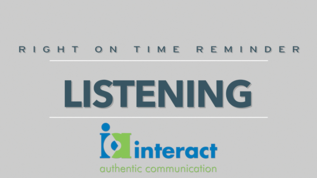Right on time Reminders - Listening