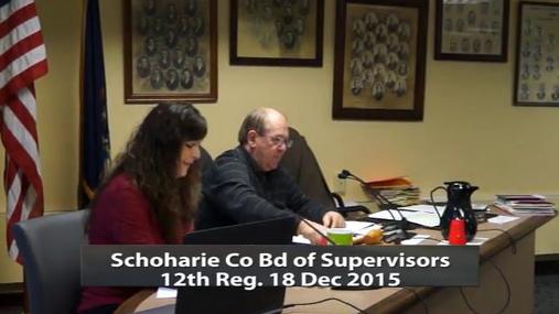 Schoharie Co Bd of Supervisrs 12th Reg -- Dec 18 2015
