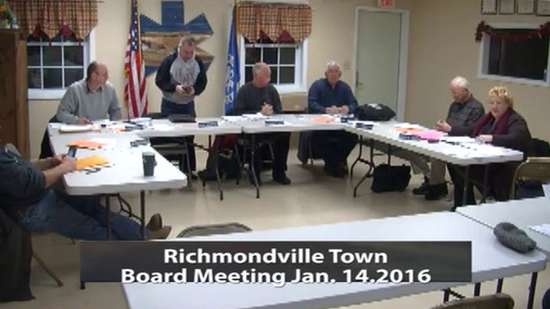 Richmondville Town Board -- Jan 14 2016