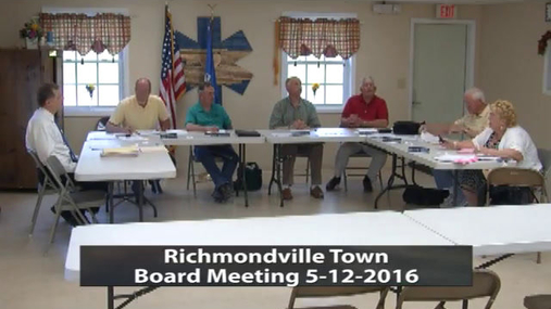 Richmondville Town Board -- May 12 2016