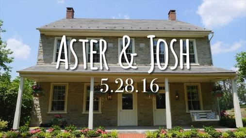 Aster and Josh WeddingGram
