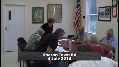 Sharon Town Bd --6 July 2016
