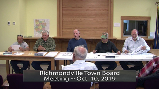 Richmondville Town Board -- Oct. 10, 2019