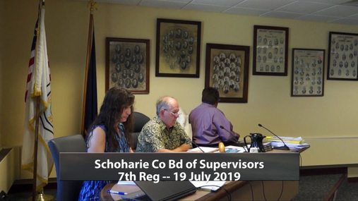 Schoharie Co Bd of Supervisors --Reg 7  19 July 2019