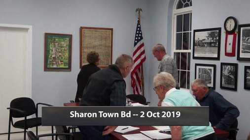 Sharon Town Bd -- 2 Oct 2019
