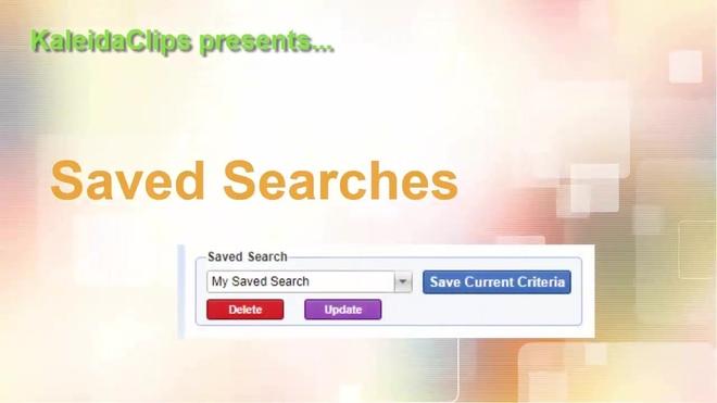 KaleidaClip - Saved Searches