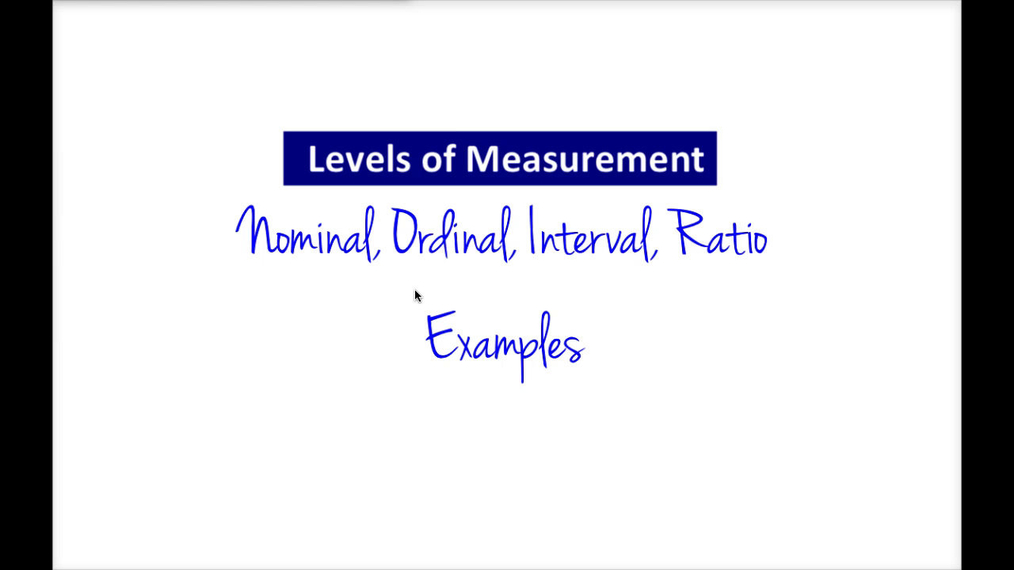 Intro Stats - Levels of Measurement Examples.mp4