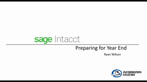 Sage Intacct - Preparing for Year End
