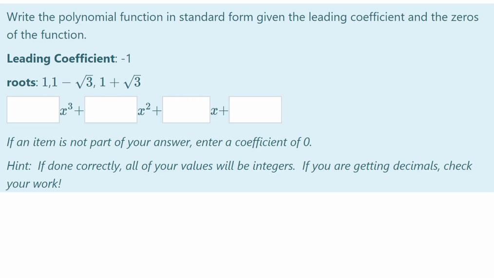 Homework Help SMIII New 4.7 Writing Polynomials.mp4